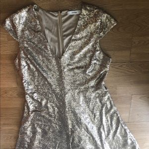 Antique Gold Sequin Fully Lined Plus Size Dress